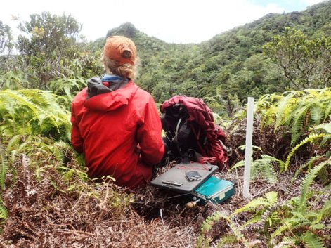 Deploying a recording device could be hard work, but always worth the view!
