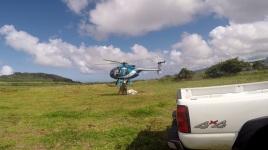 Helicopter belly hookup