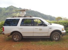 Radar survey truck